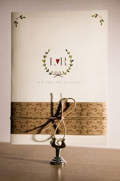 Convite Cinta Kraft