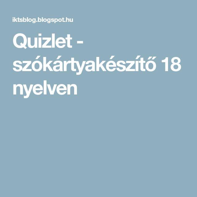 Quizlet - szókártyakészítő 18 nyelven