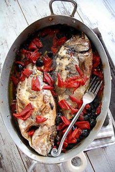 recette Daurade au four à l'ail et vinaigre