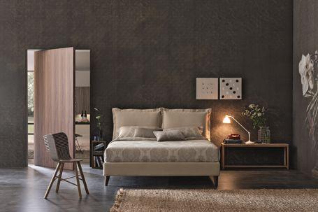 BRAVO VIVIAN upholstered low storage bed.