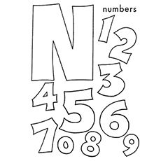 The N Is For Numbers Letter A Crafts Abc Coloring Sheets Letter N Crafts