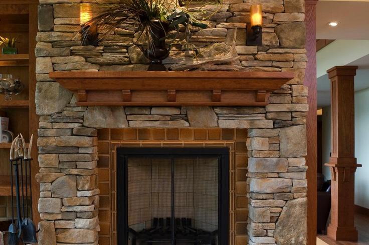 Frank Lloyd Wright Inspired Residence- Rustic Stone