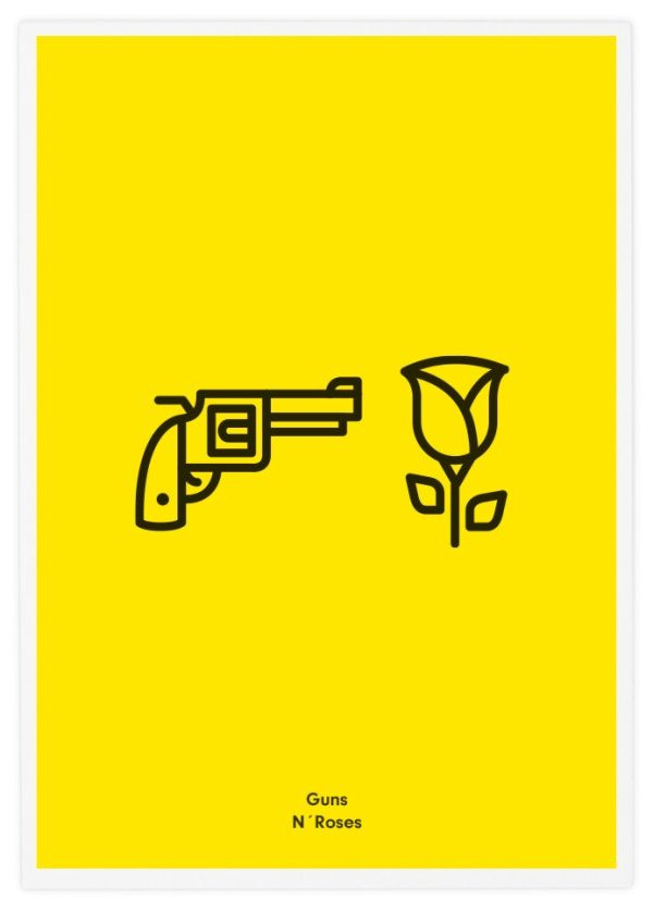Minimalist Icon Posters Of Famous Rock Bands - DesignTAXI.com