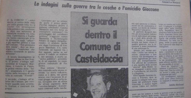 14 agosto 1982, L'Ora, pagina