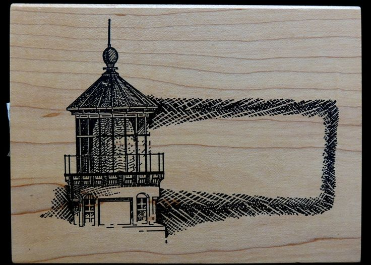 Rubber Stamp | Lighthouse | Ocean Sea Sailing | Scrapbook Cards | Postcard | Address Stamp by ClassicEndearments on Etsy