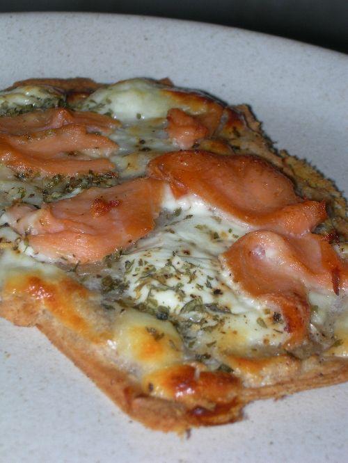 """""""flammekueche"""" au saumon"""