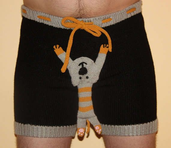 Anatomically Considerate Crochet Undies - The Warm Presents Boxers Have a Gift Attached to Each Pair (GALLERY)