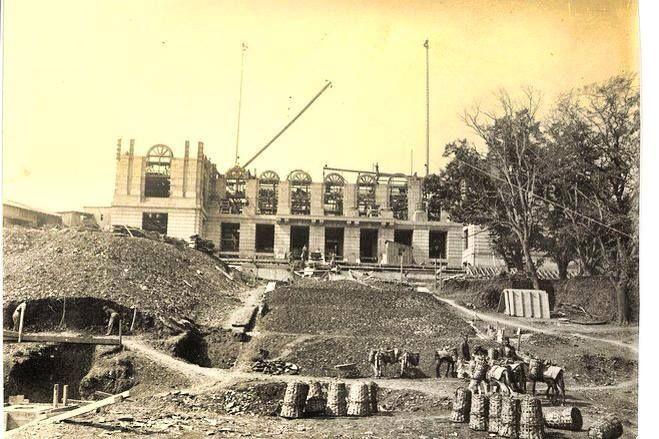 robert college under construction. ~1860s