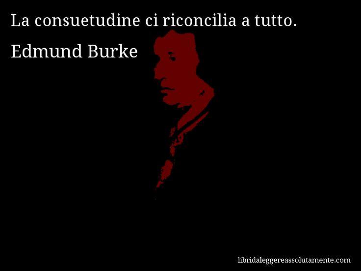 Aforisma di Edmund Burke , La consuetudine ci riconcilia a tutto.