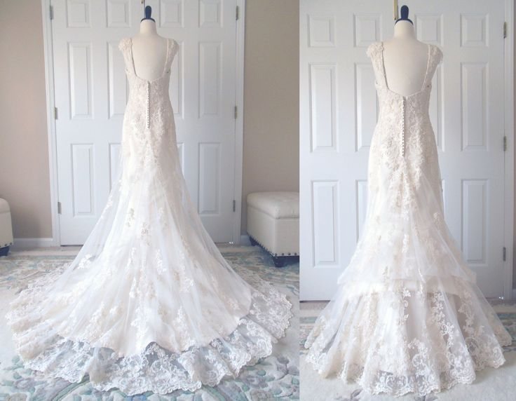 Show me your bustle for lace dresses! - Weddingbee