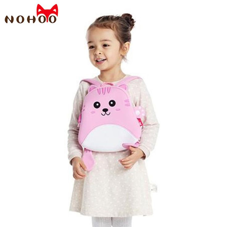 NOHOO Cat Children <font><b>School</b></font> <font><b>Bags</b></font> Cartoon Kids Baby Backpack Fashion Schoolbags Waterproof Neoprene For Boys Girls <font><b>Pink</b></font> 2017 New-38