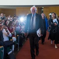 """Former US Pres. candidate Bernie Sanders presents his book """"Our Revolution"""""""