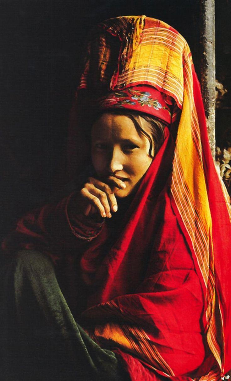 Central Asia | Portrait of a Turkmen woman, Turkmenistan, Turkey | National Geographic 1973