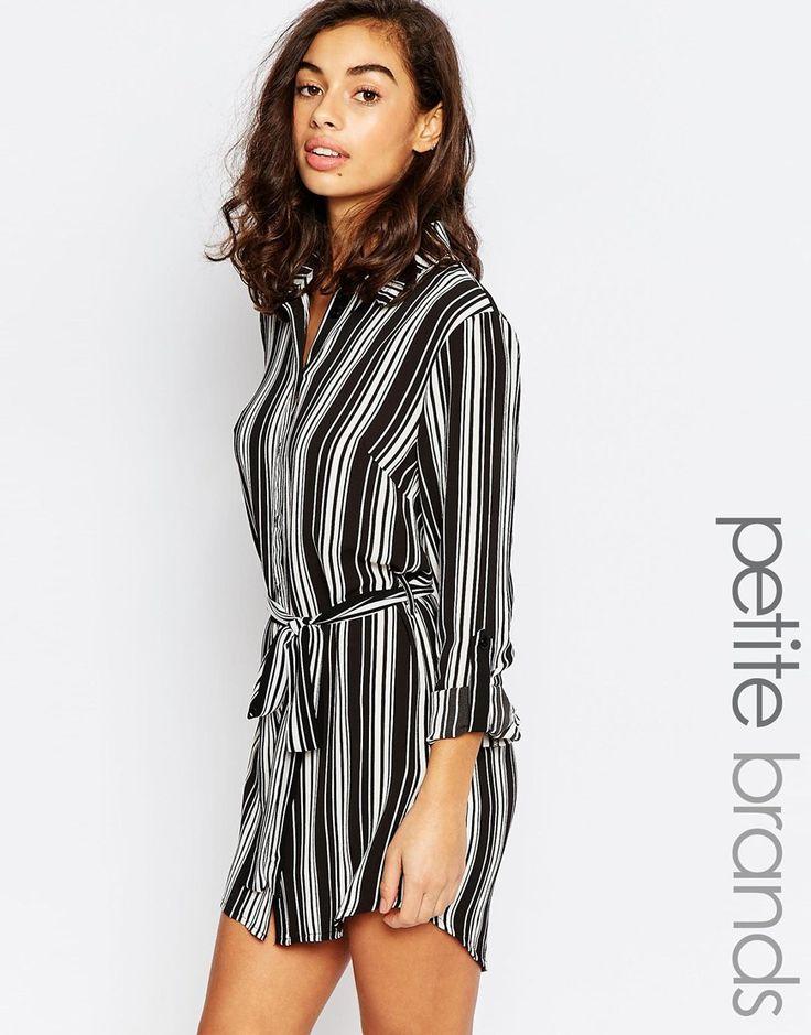 New Look Petite Striped Shirt Dress | ✒éclat | Pinterest | Shirts ...