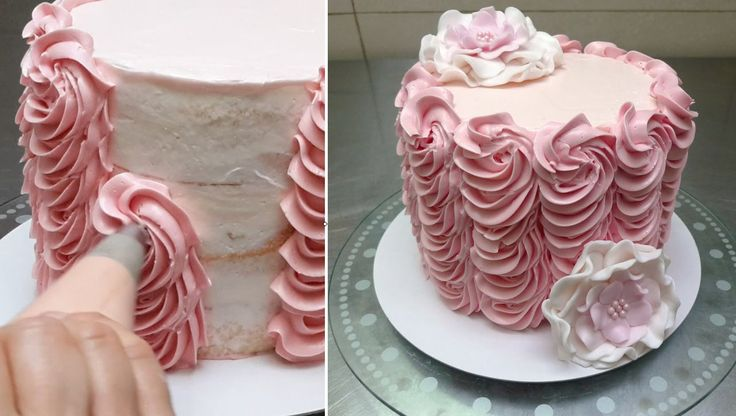 Buttercream Cake Decorating. Fast and Easy Technique #1. Tutorial by Cak...