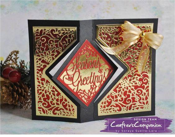 Diamond Swing Card Made Using Crafters Companion Diesire