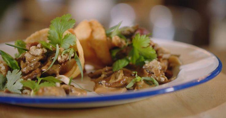 Tortilla met hert of fazant en portosaus