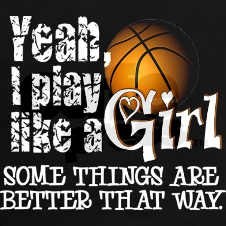 Play Like a Girl - Basketball Tee on CafePress.com