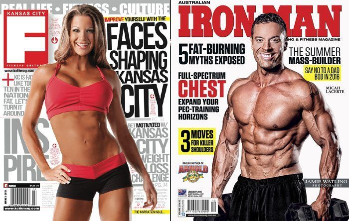 6038e8b1642 Meet Your Trainers with Hitch Fit Diana Chaloux and Micah LaCerte on the  cover of Kansas City Fitness Culture and Iron Man Magazines