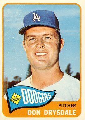don drysdale baseball card | 1965 Topps Don Drysdale #260 Baseball Card Value Price Guide