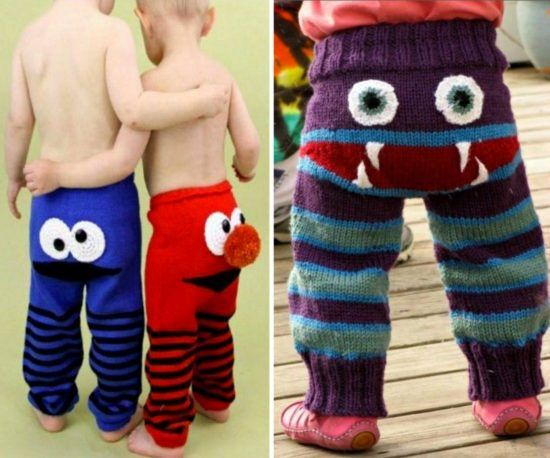 Knitted Monster Pants Pattern Is Super Cute | The WHOot Lol mum I think all the grandkids need these!