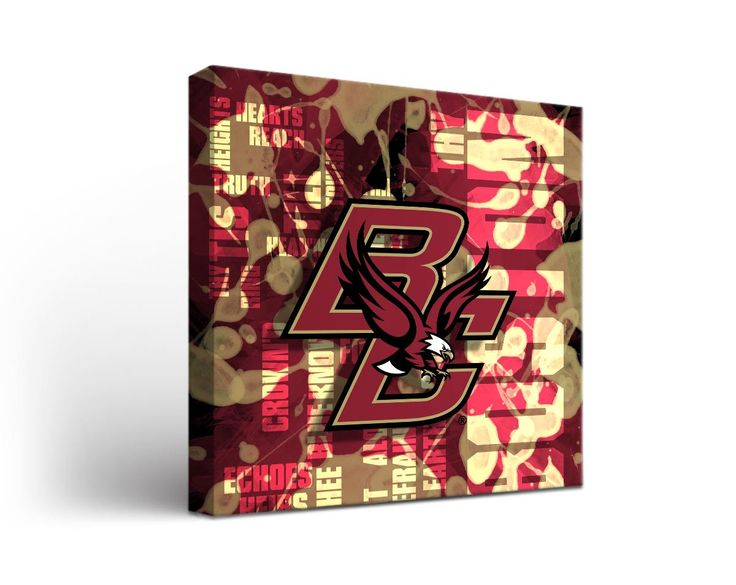 Boston College Eagles Fight Song Art Print on Canvas Square