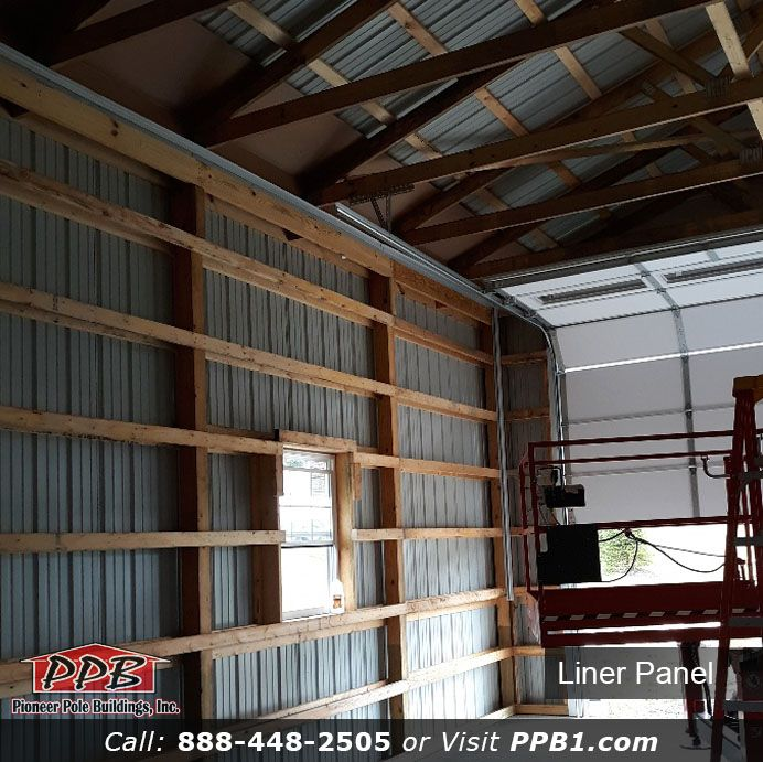 Interior Needs To Be Finished What Should You Do Consider Liner Panel Finish The Interior Of Your Build Steel Garage Buildings Steel Garage Dream Garage