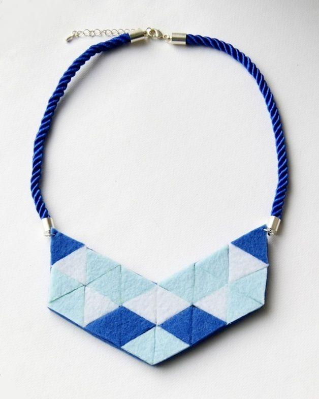 GEOMETRIC blue - braceland - Naszyjniki