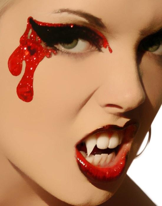Vampire Bites Women's Stick On Halloween Makeup