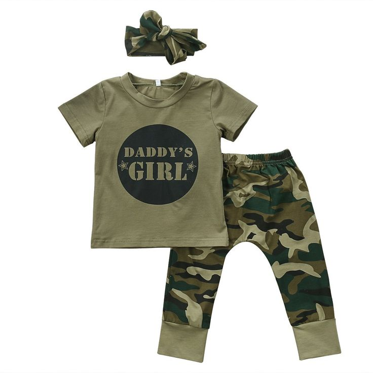 Daddy's Girl/Boy Camouflage Clothing Set