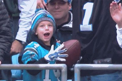 The football Cam Newton chased down to give away went to a 6-year-old who recently lost his father- http://getmybuzzup.com/wp-content/uploads/2015/11/551054-thumb.jpg- http://getmybuzzup.com/cam-newton-chased-down-to/- By Mark Sandritter Every time the Carolina Panthers score a touchdown, Cam Newton celebrates by giving the ball away to a fan. It turns out when he did it on Sunday, it had a little more meaning than it typically might. After a second quarter touchdown, Newton