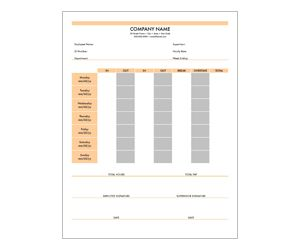 Weekly Retail Timesheet: Get this free, printable, customizable template from YourTemplateFinder.com