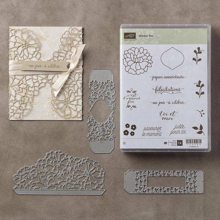 Amour fou Clear-Mount Bundle by Stampin' Up!