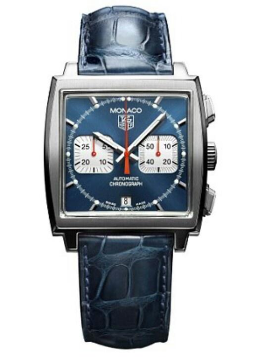 Tag Heur Monaco l'orologio di Steve McQueen Edition / Blue Leather Strap. Tag Heur è un marchio in vendita nella gioielleria Pisani di Piazza Matteotti a Scandicci http://www.pisanigioielleria.com/