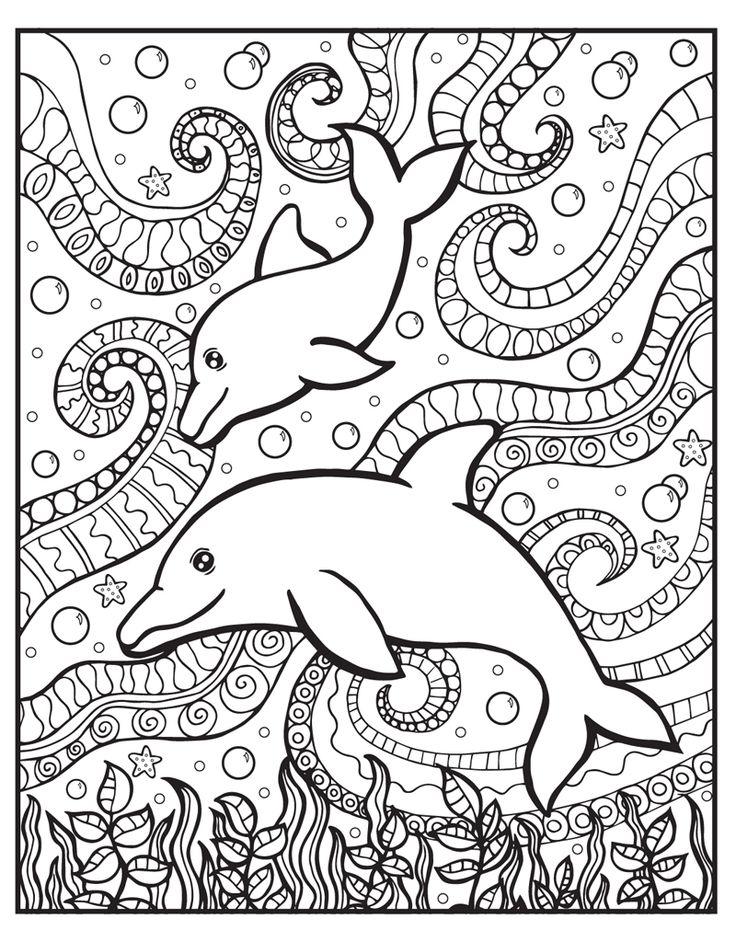 Pin van Barbara op coloring dolphin, whale, shark - Zendoodle
