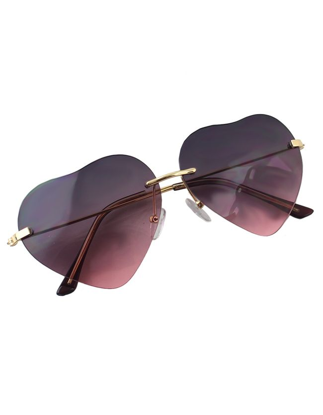 Pinkblack Heart Shape Women Sunglasses