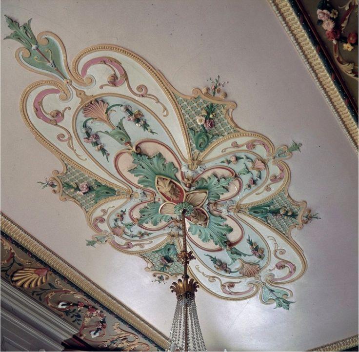 Plafond van de Drakenzaal op Kasteel Oud Poelgeest