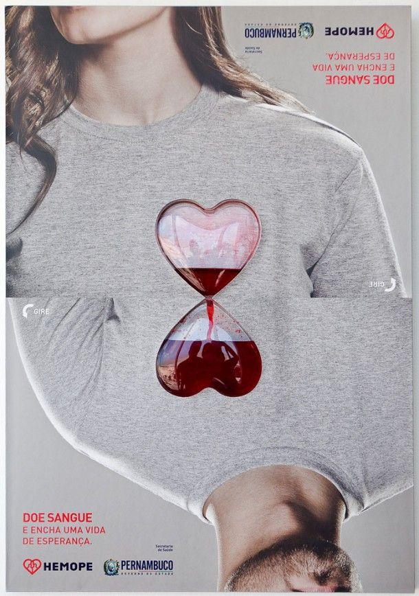 Cartaz criativo incentiva doação de sangue   The 360º Blood Poster