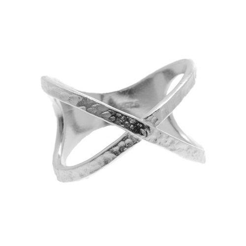 "Tic Tac Toe ""X"" Ring in sterling silver $70 www.toriandtaz.com"