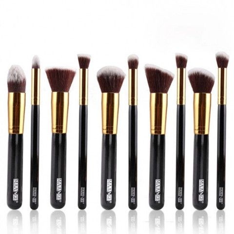 10 Piece Makeup Brushes | Home Goods Galore