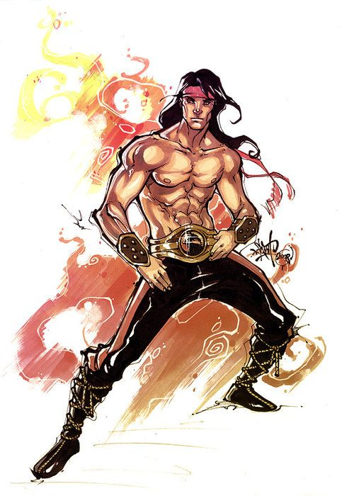 Mortal Kombat Drawings by Filipe Aguiar ScorpionBlaze