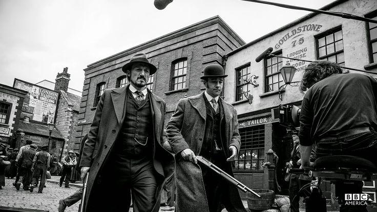 : Photos: Matthew Macfadyen on set of Ripper Street (Season 3) This scene was kinda bad ass!