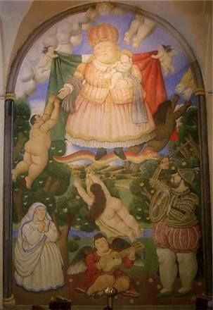 affresco #il paradiso  di #Botero a #Pietrasanta