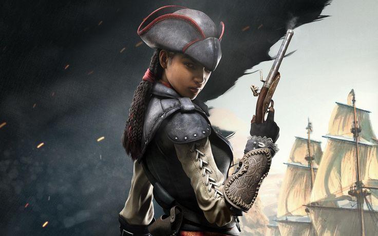 Aveline Pirate Girl Assassins  #Assassins #Aveline #Girl #Pirate #wallpaper #desktopwallpaper #hdwallpaper #gaming #games