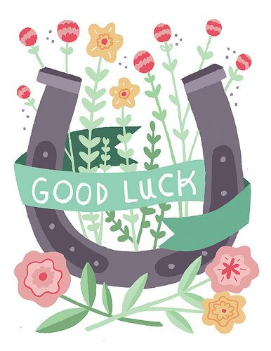 Good luck card by Alyssa Nassner, via Flickr
