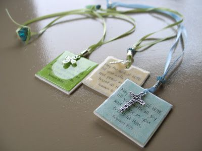 Inspiring Ideas with artist Jeanne Winters: Tutorial: Glossy Bookmark or Magnet Gift. Use Glossy Accents for finish. (I would try this using beautiful scrap-booking papers and various quotes, names or wedding dates, etc, with a corresponding charm.)