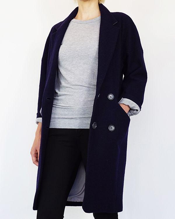 ITEM 2016AW AROMAS Wool Cocoon Coat / Navy