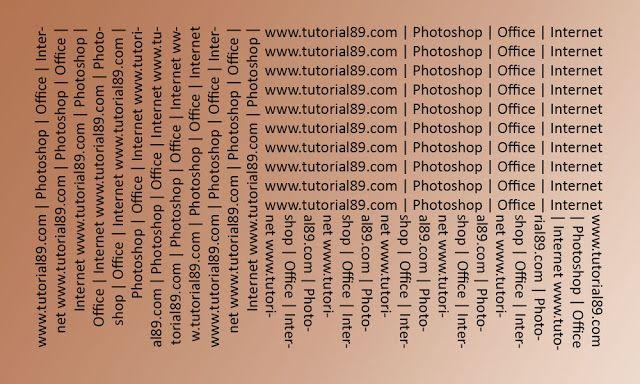 Cara mudah dan cepat membuat tulisan miring di photoshop
