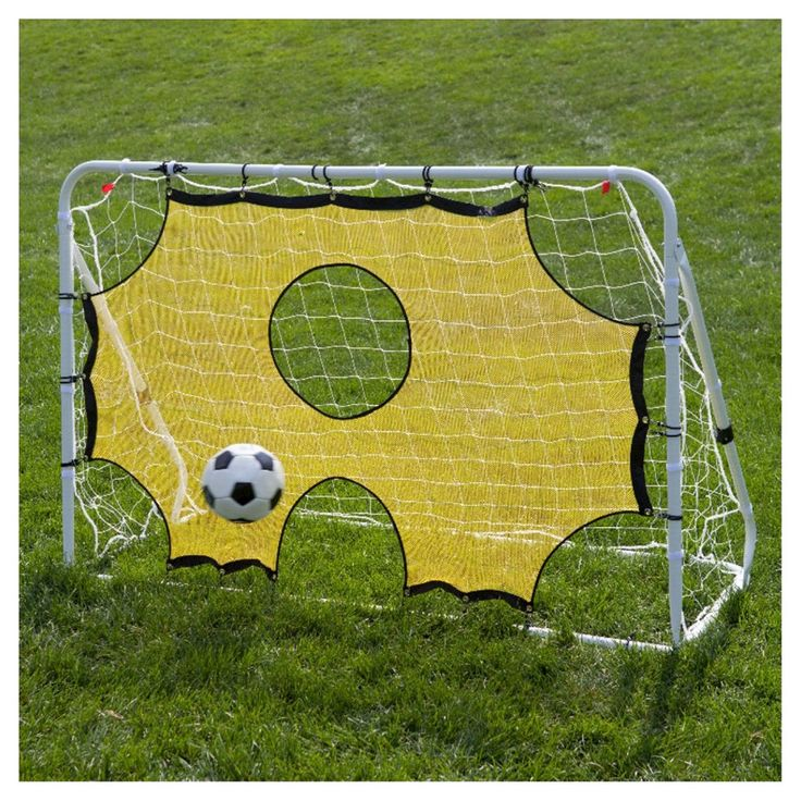 Lion Sports 3-in-1 Soccer Trainer Goal Rebounder & Training Aid, White