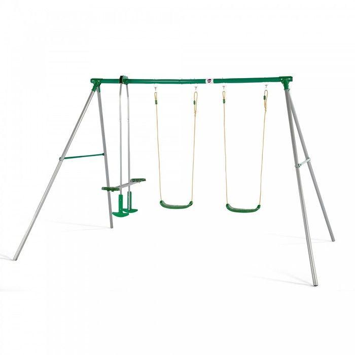 Plum Jupiter Metal Swing Set. Available at Kids Mega Mart online Shop Australia